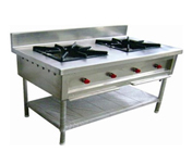 Double Burner for commercial kitchen